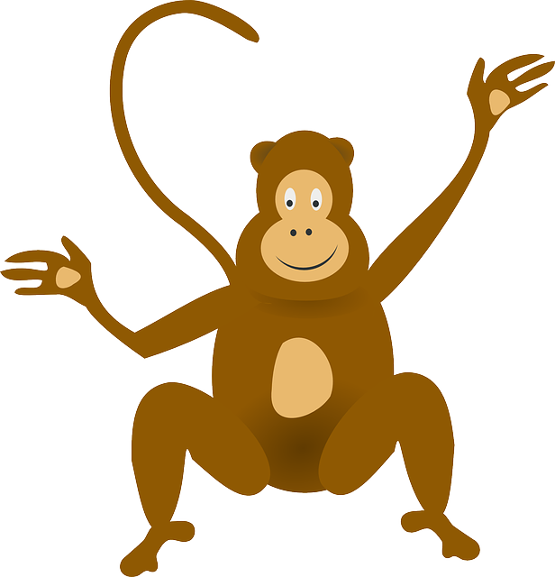 Ape clipart realistic. Baboon funny monkey pencil