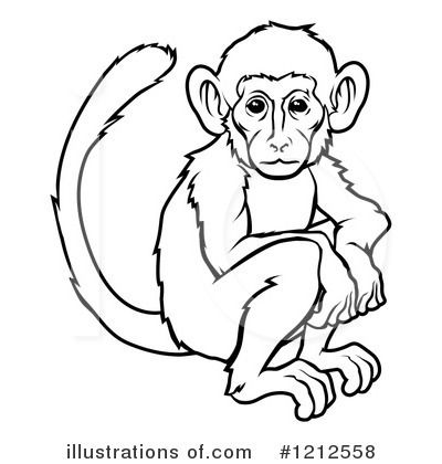 Monkey drawing at getdrawings. Ape clipart realistic