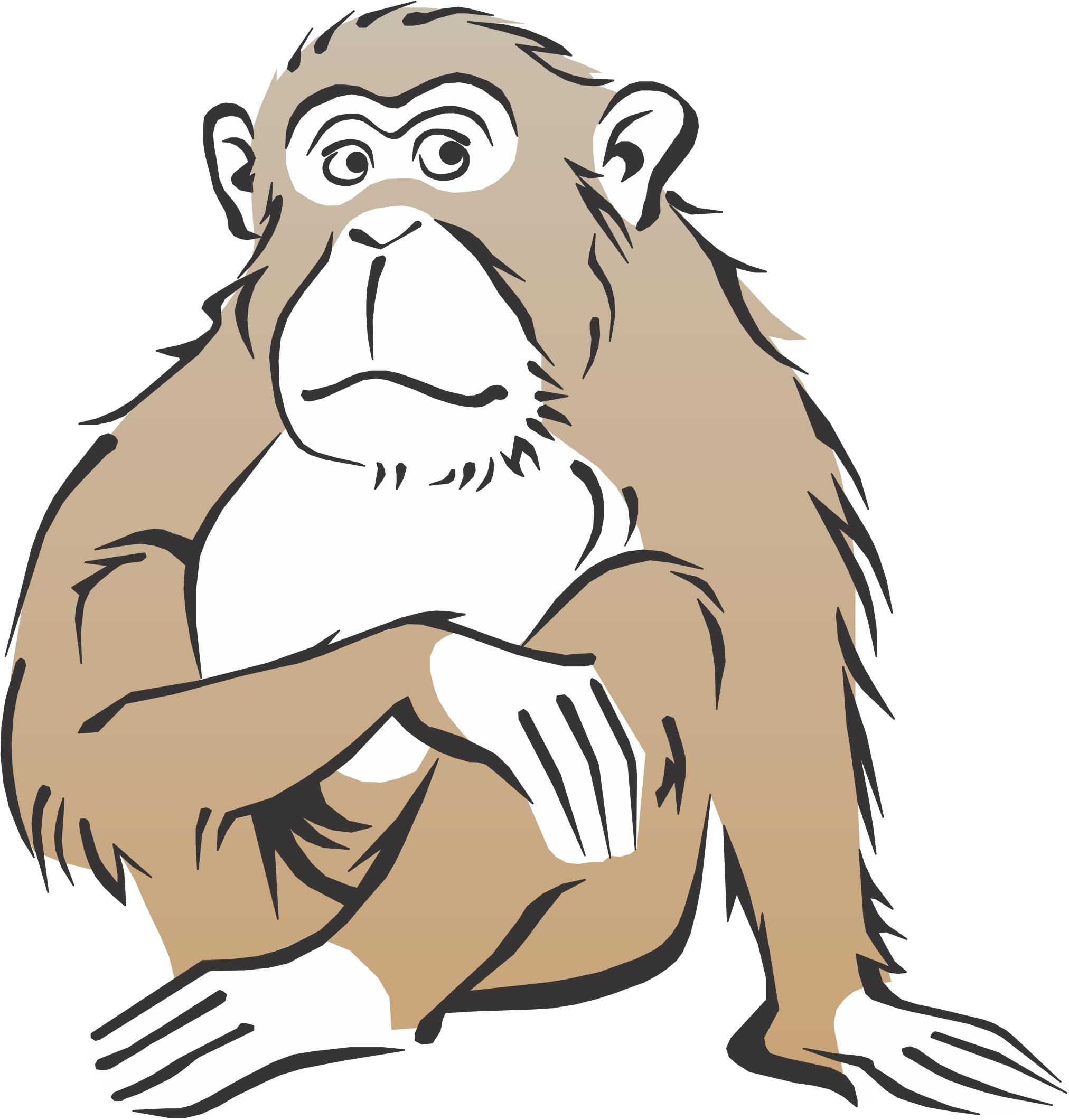Monkey clip art library. Ape clipart realistic