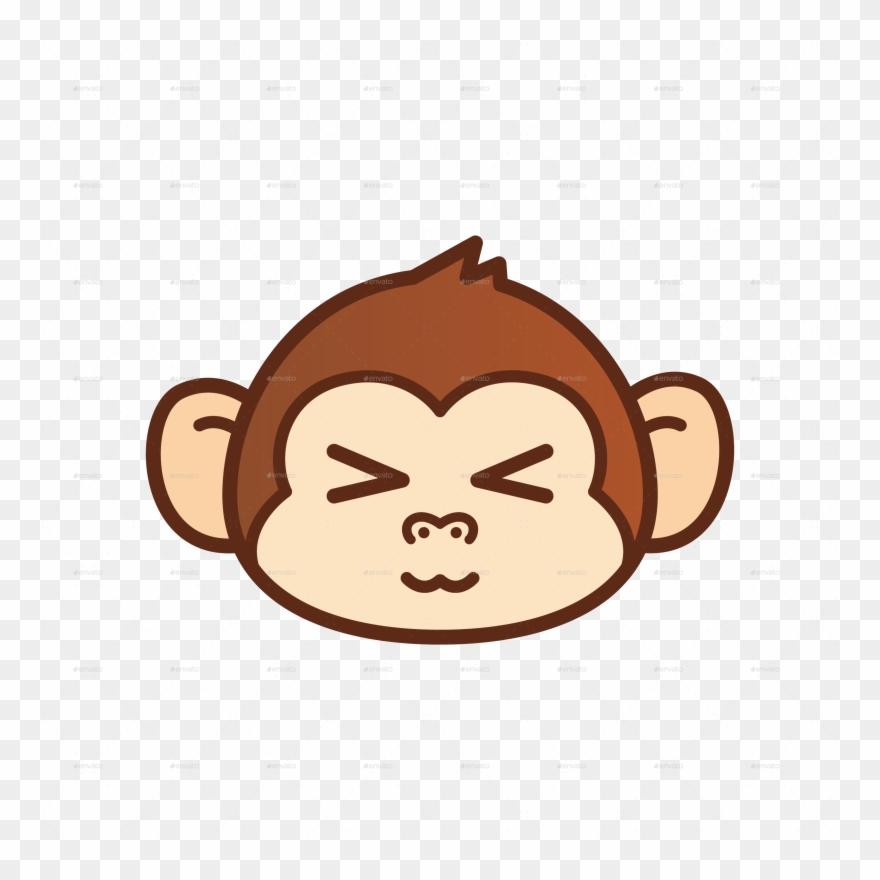 Pin monkey clip art. Ape clipart sad