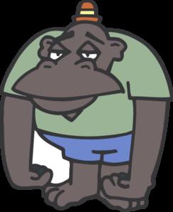 Ape clipart sad. Clip art at clker