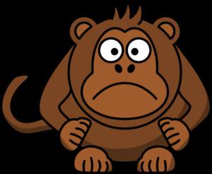 Boy monkey clip art. Ape clipart sad