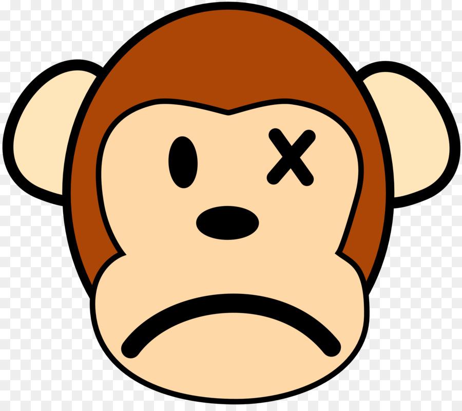 The evil monkey clip. Ape clipart sad