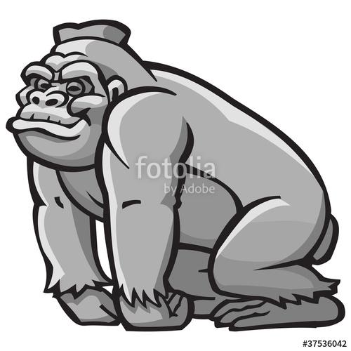 Cartoon stock image and. Ape clipart silverback gorilla