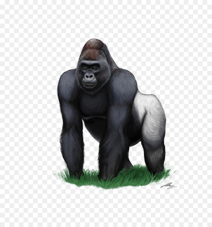 Mountain clip art cartoon. Ape clipart silverback gorilla