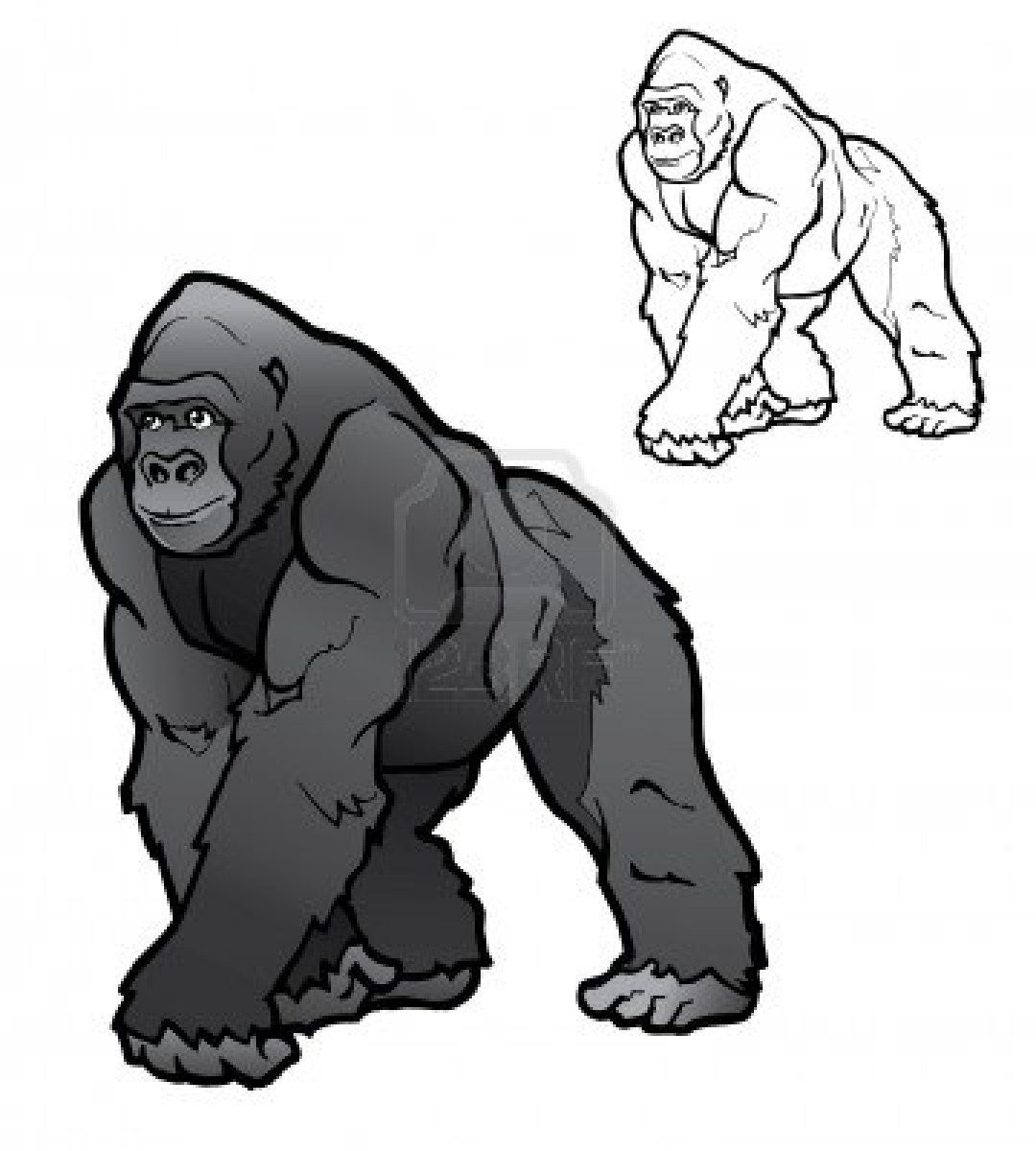 Ape clipart silverback gorilla. The one and only