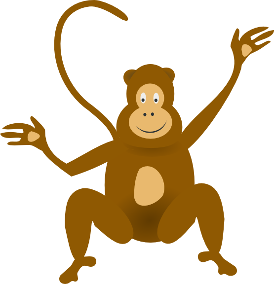 collection of monkey. Paw clipart monkeys