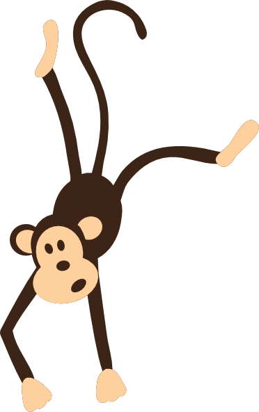 Clipart monkey template. Clip art hanging vector