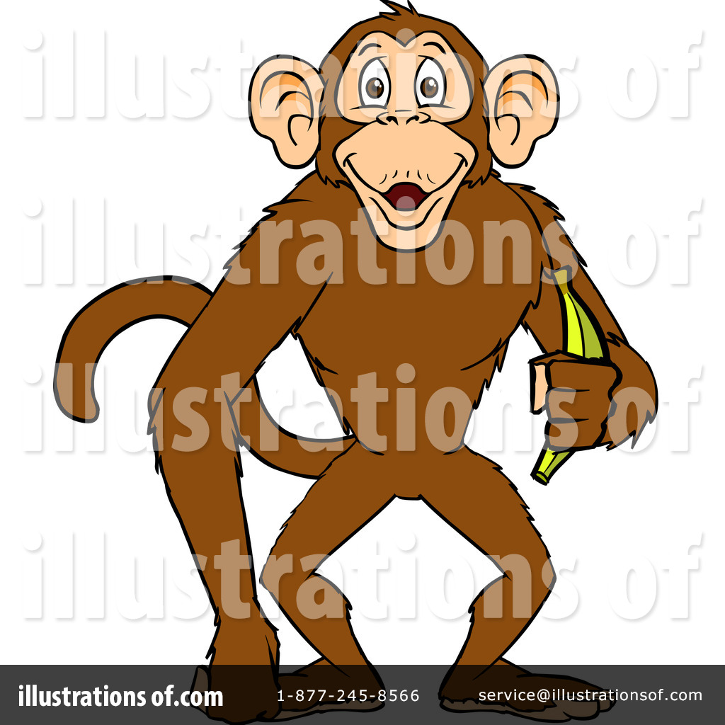 Ape clipart wild monkey. Illustration by cartoon solutions