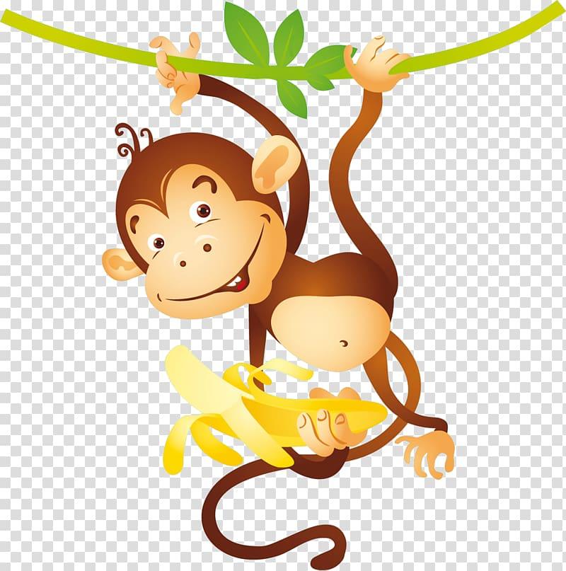 Ape clipart yellow. Chimpanzee monkey banana transparent
