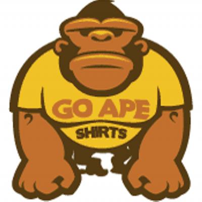 Go shirts goape twitter. Ape clipart yellow
