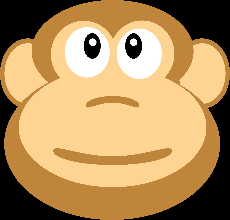 A monkeys head. Ape clipart yellow