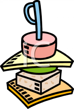 An appetizer sandwich stacker. Appetizers clipart