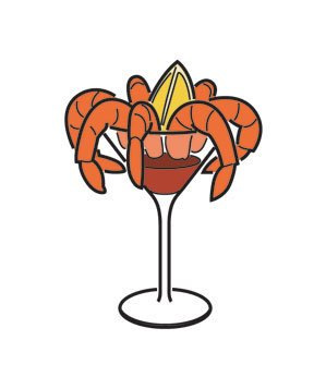 Appetizers clipart. The best and worst
