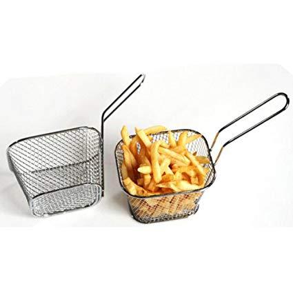 Appetizers clipart basket fry. Amazon com doinshop electroplate