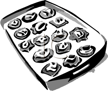 Appetizers clipart black and white. Clip art picture of
