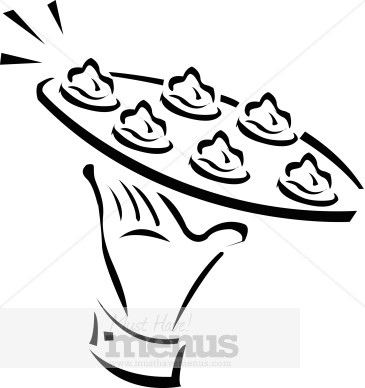Catering clipart appetizer. Passed appetizers