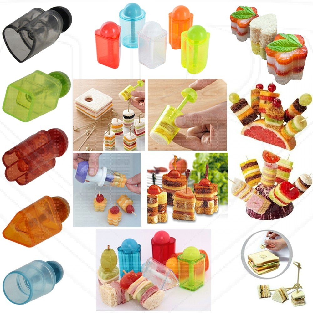 Party snack pastry cutters. Appetizers clipart canape