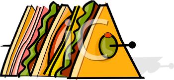 A sandwich image foodclipart. Appetizers clipart canape