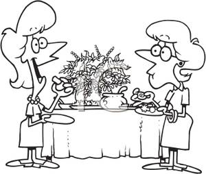 Black and white coloring. Appetizers clipart cartoon