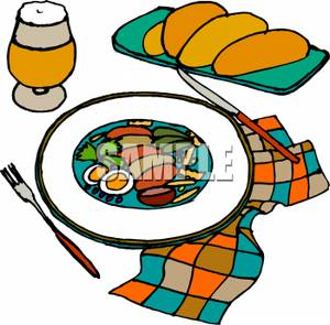 Appetizers clipart cartoon. A colorful of plate