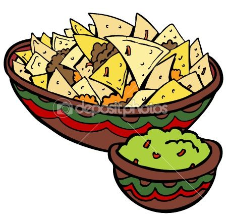 Rapido guacamole simple yummy. Nachos clipart chip guac