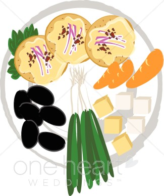 Appetizers clipart clip art. Appetizer tray wedding food