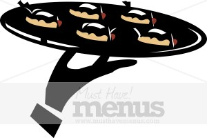 Appetizers. Catering clipart appetizer