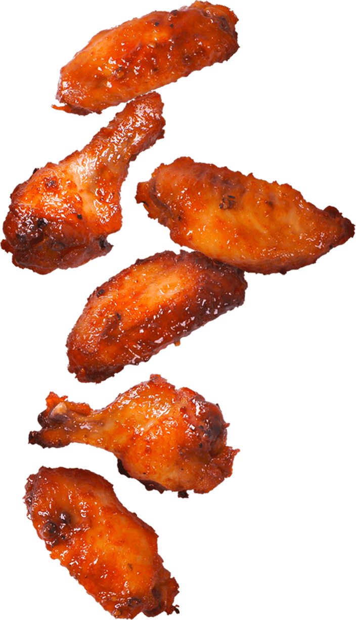 Our menu wings near. Appetizers clipart fried chicken wing