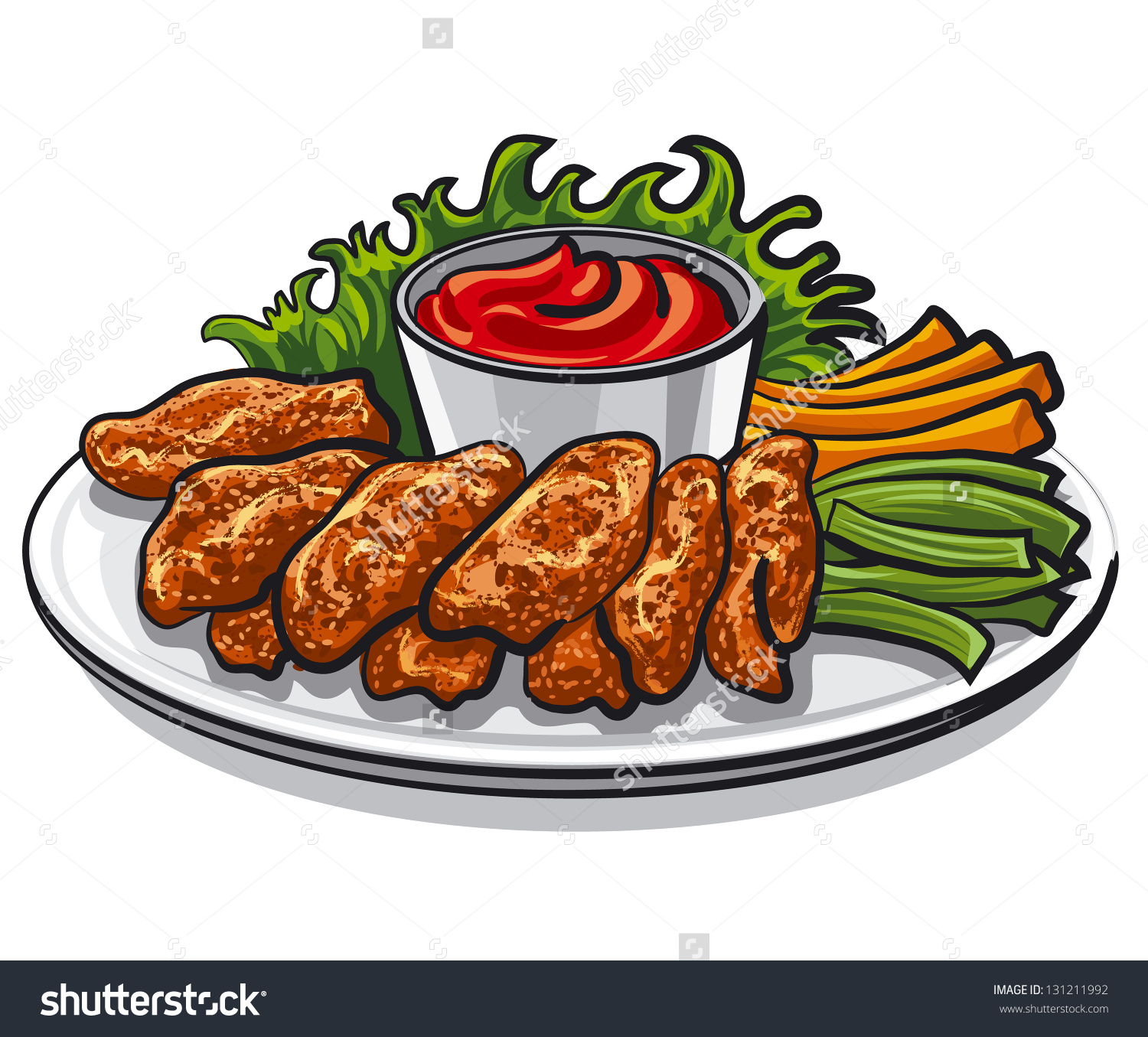 Appetizers clipart fried chicken wing.  collection of free