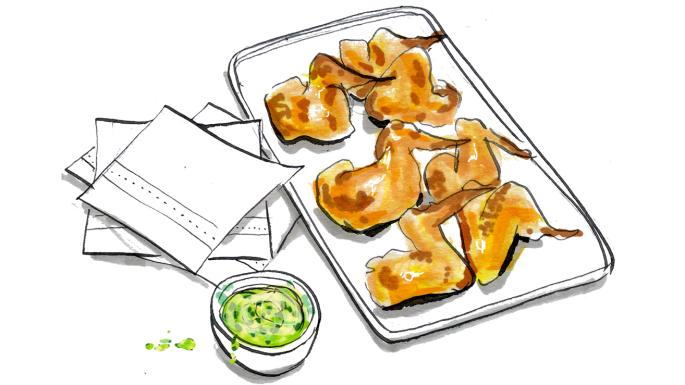 Recipe lindsey bareham s. Appetizers clipart fried chicken wing