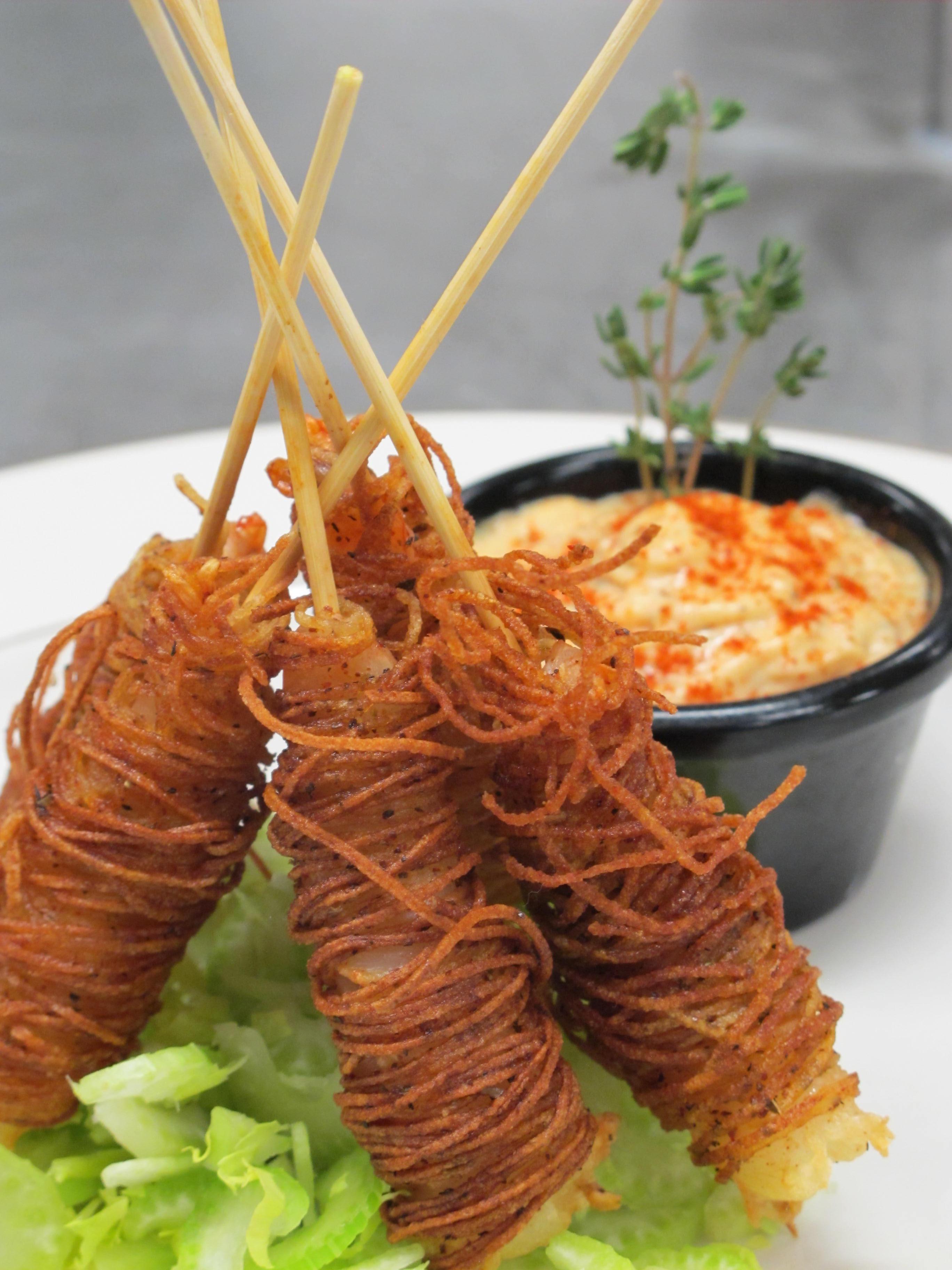 Idaho commission russetwrapped shrimp. Appetizers clipart fried potato