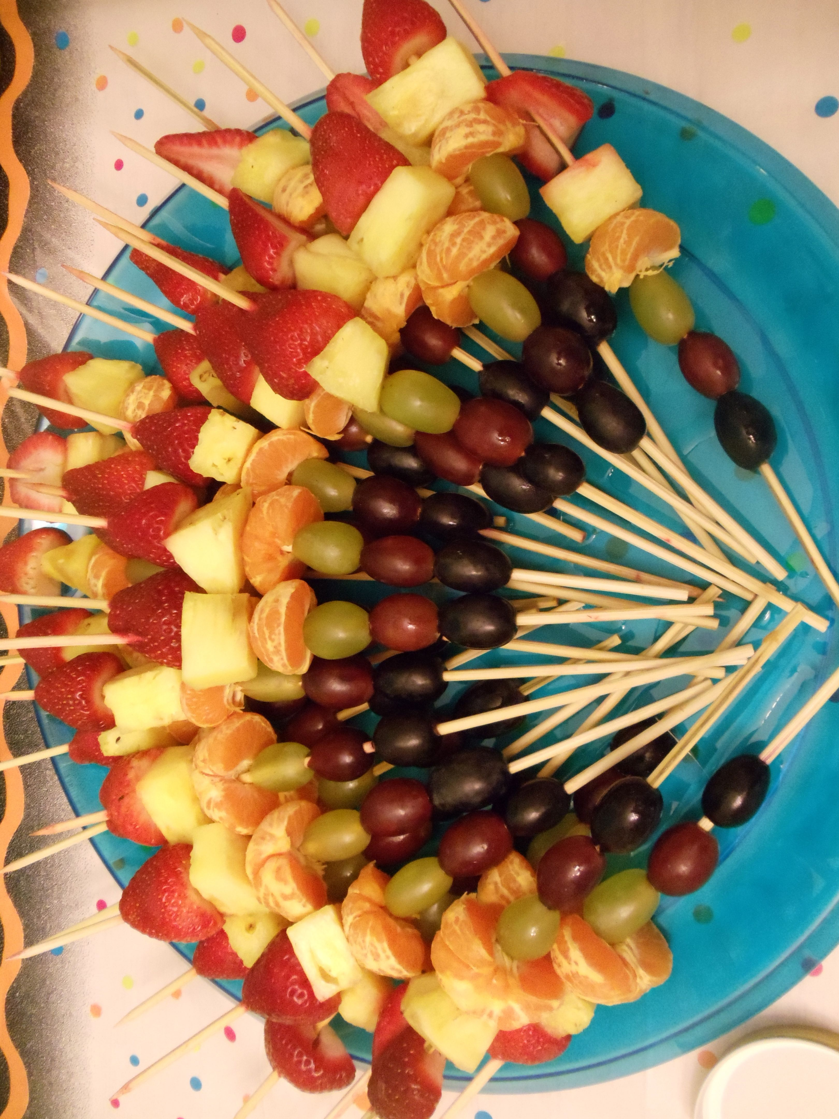 s party food. Appetizers clipart fruit skewer