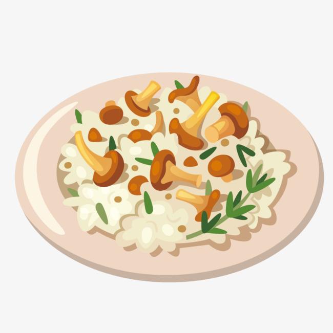 Cooking mushrooms rural fry. Appetizers clipart gourmet food