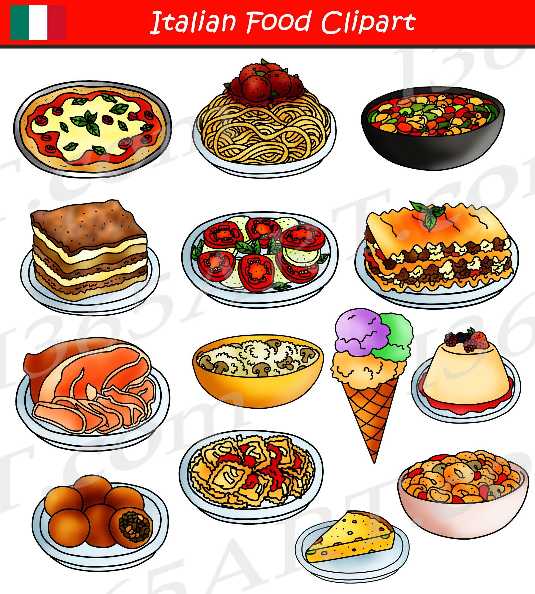 Italy clipart dish italian. Food international graphics