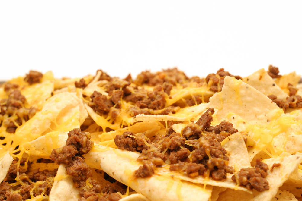 Cheese nachos market basket. Appetizers clipart nacho