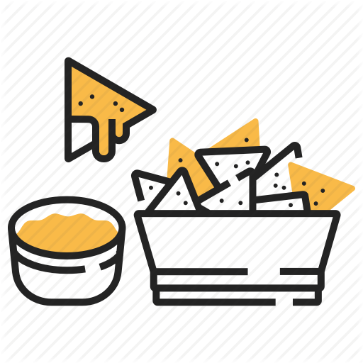 Fast food yellow shadow. Appetizers clipart nacho