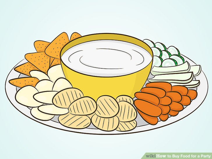 Appetizers clipart veggie plate. How to buy food