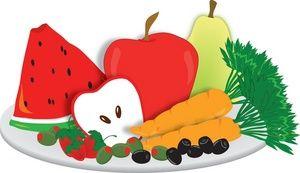 Fresh vegetables clip art. Appetizers clipart veggie plate
