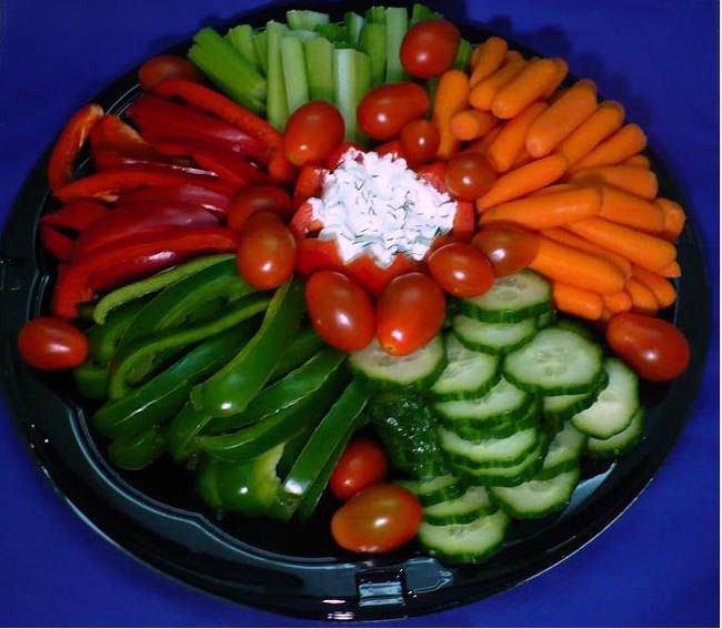 Appetizers clipart veggie plate. Vegetable platter with dip