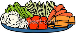 Appetizers clipart veggie tray. Of vegetables royalty free