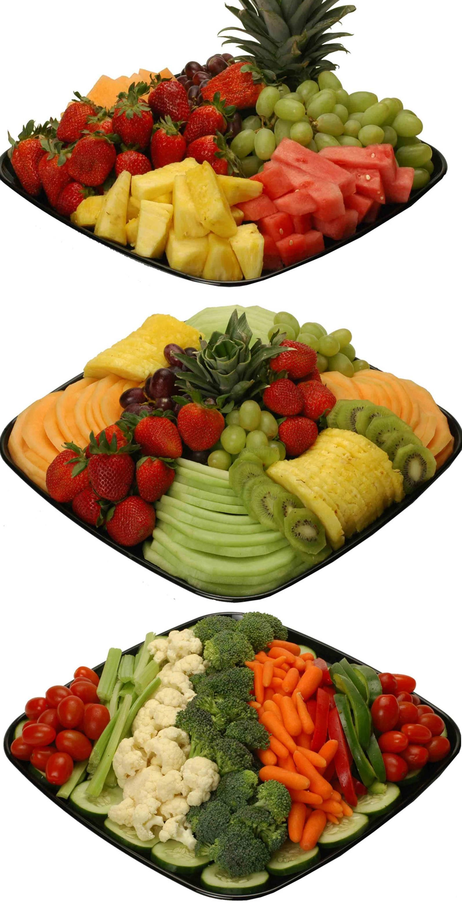 Deli fruit and ideas. Appetizers clipart veggie tray