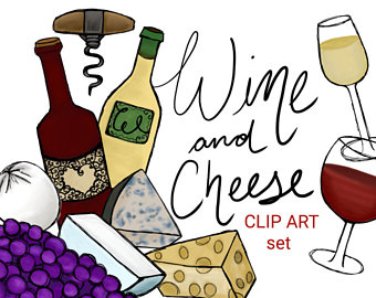 Cheese clipart winery. Wine and etsy clip