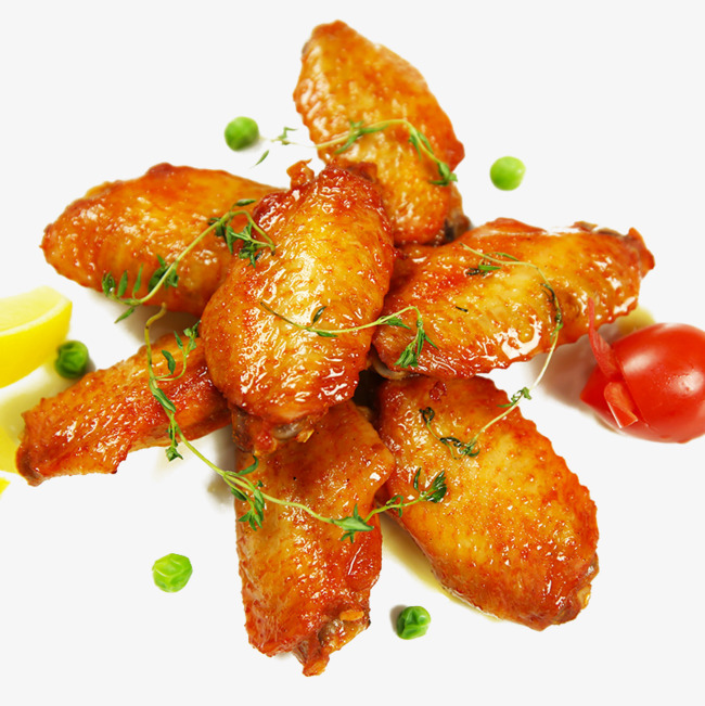 Orleans style grilled chicken. Appetizers clipart wings buffalo