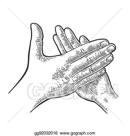 Applause clipart applause sign. Vector illustration man clapping