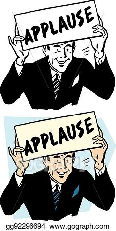 Applause clipart applause sign. Vector stock clip art