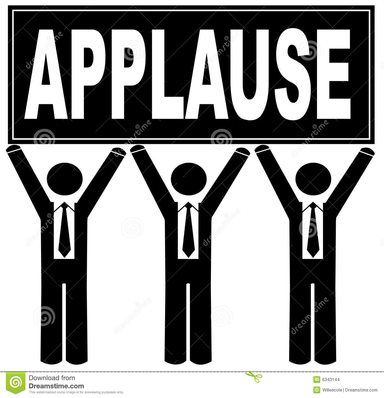 Team holding panda free. Applause clipart applause sign