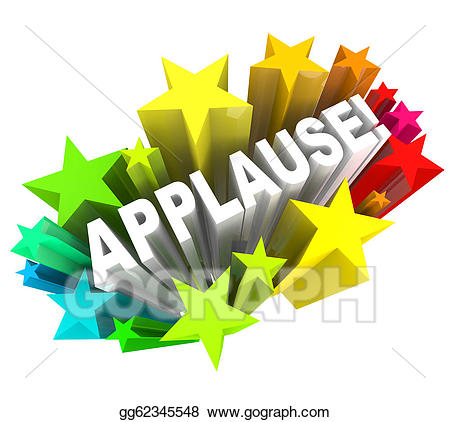 Applause clipart appreciation. Stock illustrations word ovation