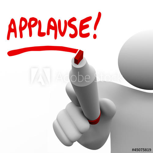 Applause clipart appreciation. Word written by man