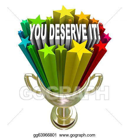 Stock illustration you deserve. Award clipart recognition